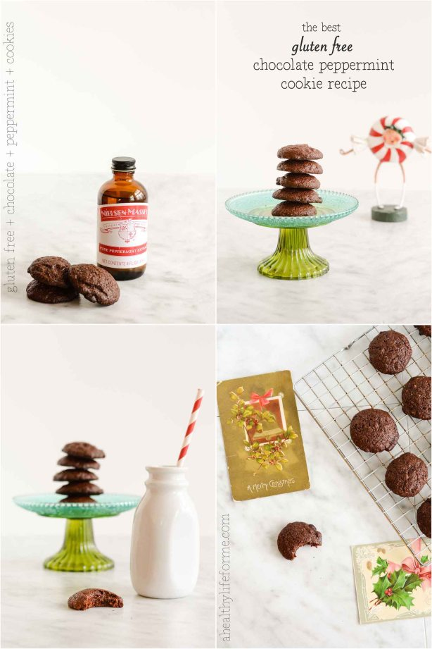 Gluten Free Chocolate Peppermint Cookie Recipe Collage copy