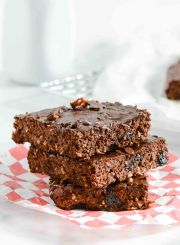 Double Chocolate Cherry Protein Brownies Recipe   ahealthylifeforme.com