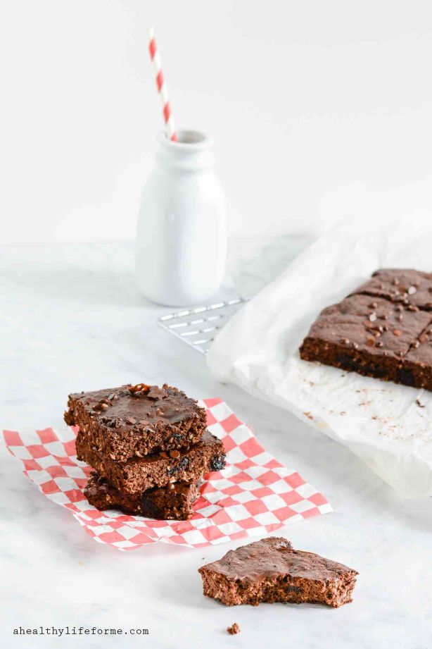 Double Chocolate Coconut Protein Brownies Recipe   ahealthylifeforme.com