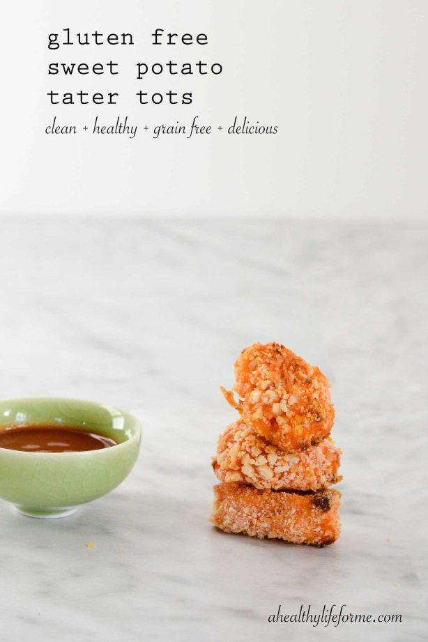 Gluten Free Sweet Potato Tater Tot Recipe | ahealthylieforme.com