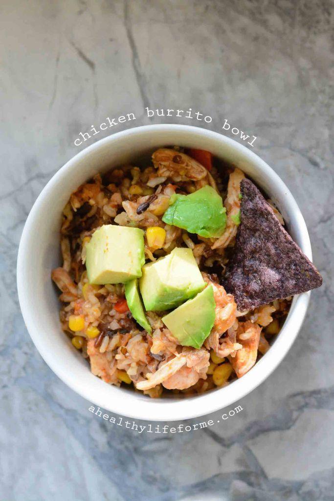 Chicken Burrito Bowl Gluten Free Recipe | ahealthylifeforme.com