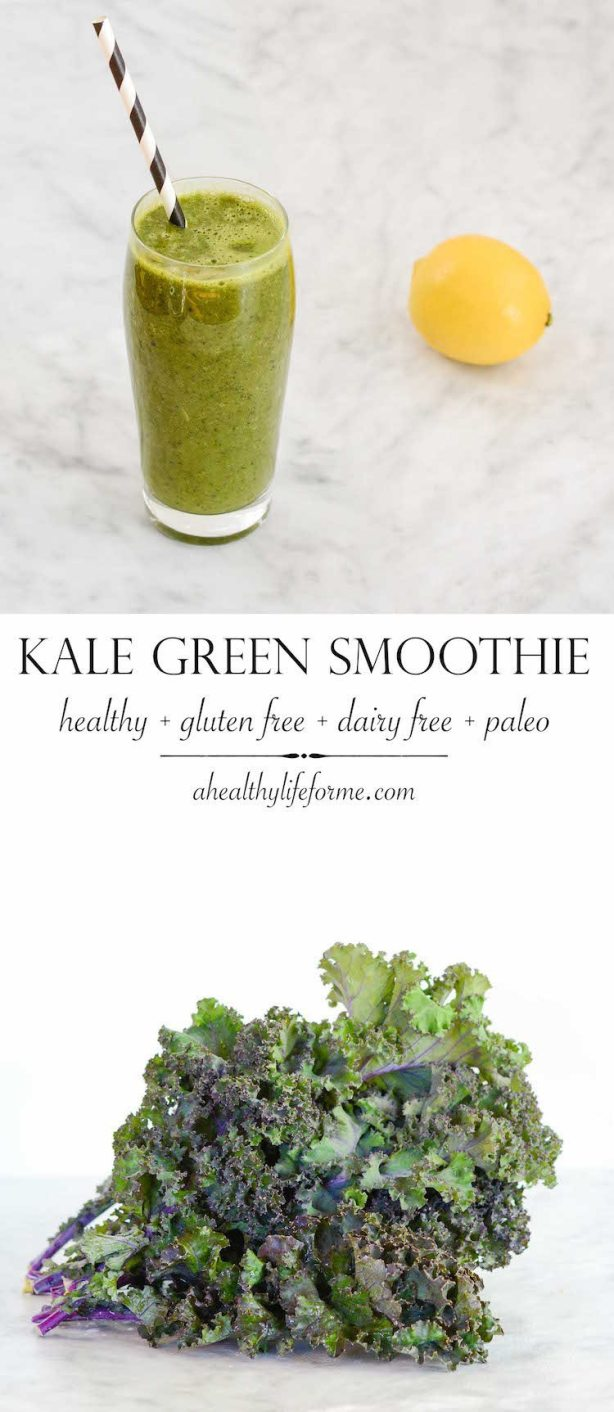 Kale Green Smoothie Recipe gluten Free dairy Free Paleo
