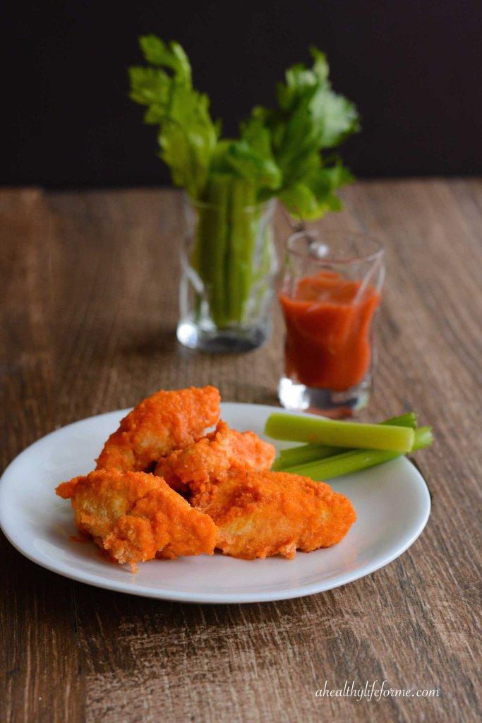 Paleo Buffalo Chicken Nugget Recipe Gluten Free Grain Free Dairy Free perfect for Superbowl