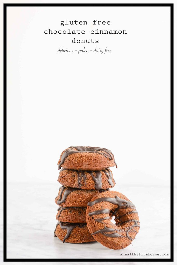 Gluten Free Triple Chocolate Cinnamon Donuts dairy free paleo | ahealthylifeforme.com