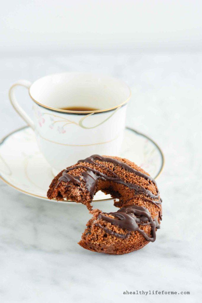 Gluten Free Triple Chocolate Cinnamon Donuts dairy free paleo | ahealthylifeforme.com