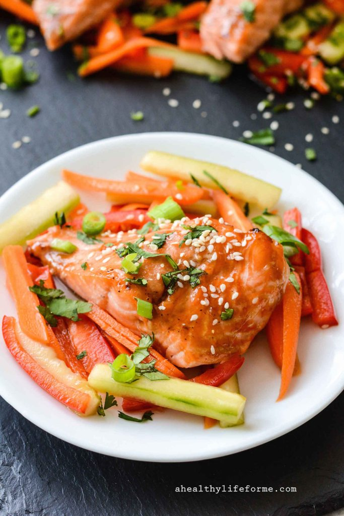 Paleo Salmon Teriyaki gluten free and dairy free healthy easy and ready in under 30 minutes   ahealhtylifeforme.com