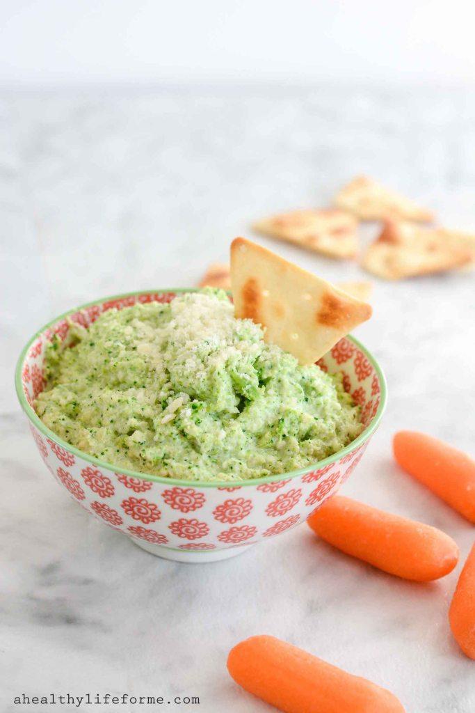 Broccoli Pesto Dip Recipe healthy clean and delicious | ahealthylifeforme.com