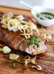 Grilled Cuban Steak with Chimichuirri Sauce paleo gluten free dairy free recipe | ahealthylifeforme.com