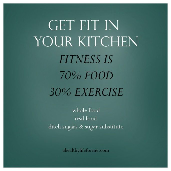 Fitness is made in your kitchen   ahealthylifeforme.com