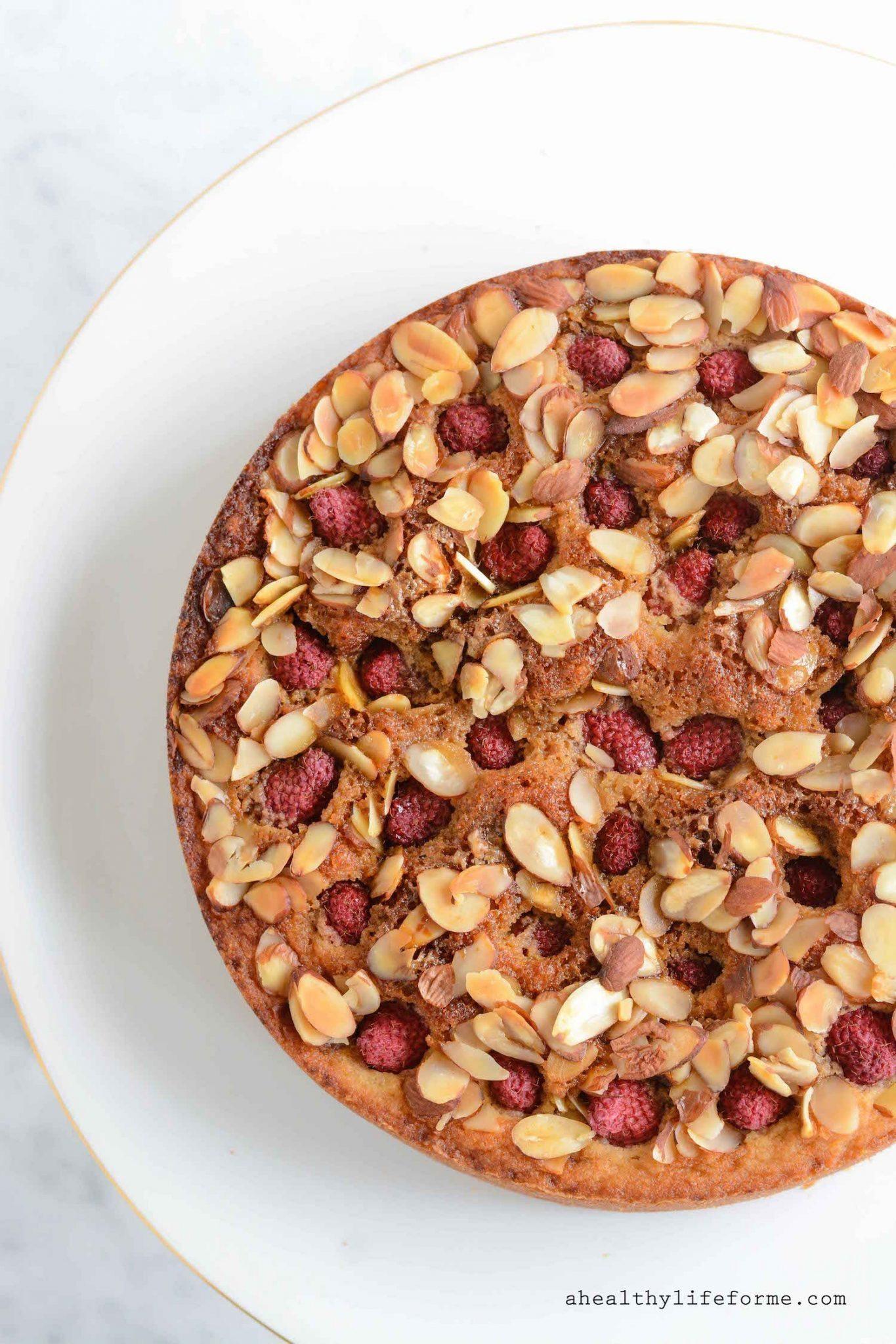 Gluten Free Raspberry Almond Breakfast Cake - A Healthy Life For Me
