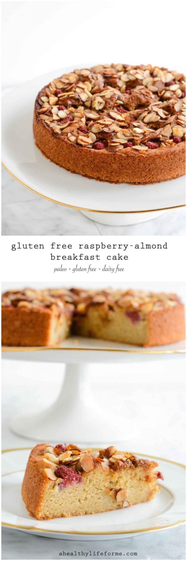 Gluten Free Raspberry Almond Cake is Paleo Dairy Free Delicious Recipe | ahealthylifeforme.com