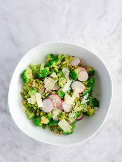Asparagus Broccoli Salad {gluten free}