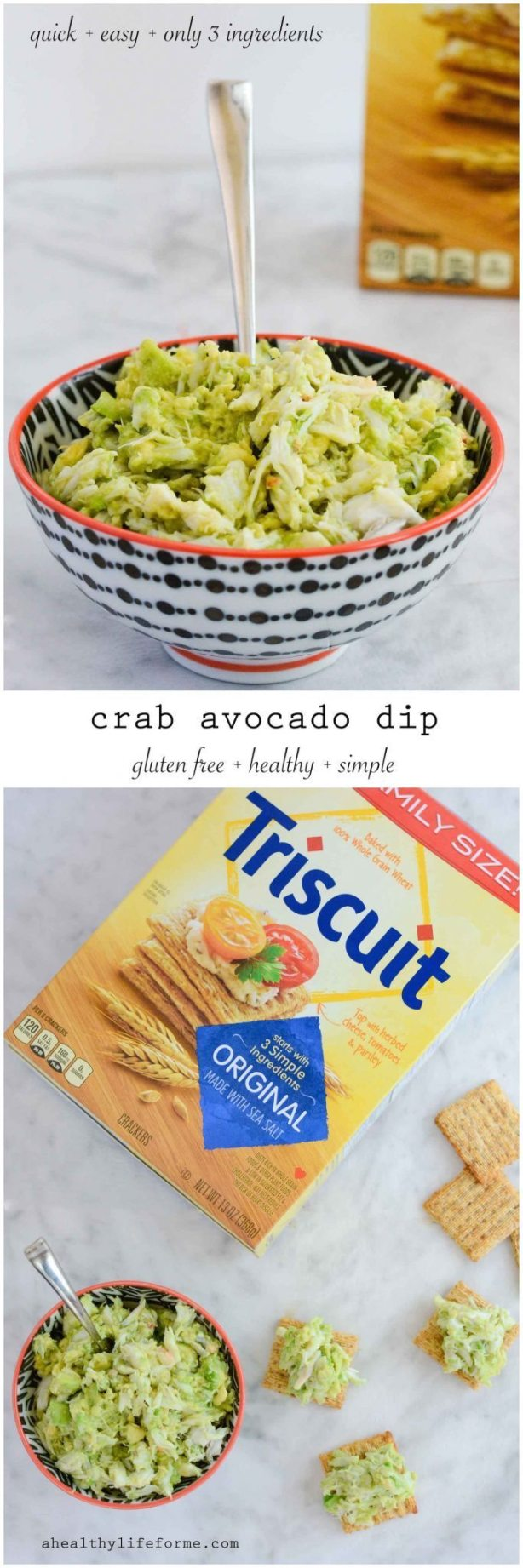 Crab Avocado Dip Recipe | ahealthylifeforme.com