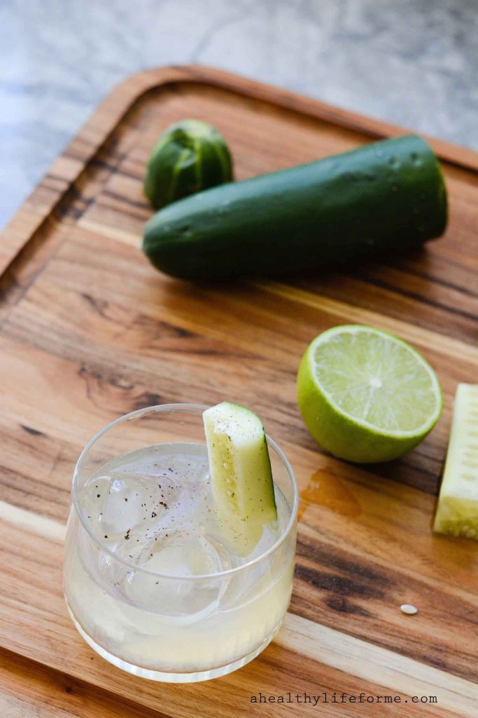 Cucumber Lime Black Pepper Cocktail Recipe   ahealthylifeforme.com
