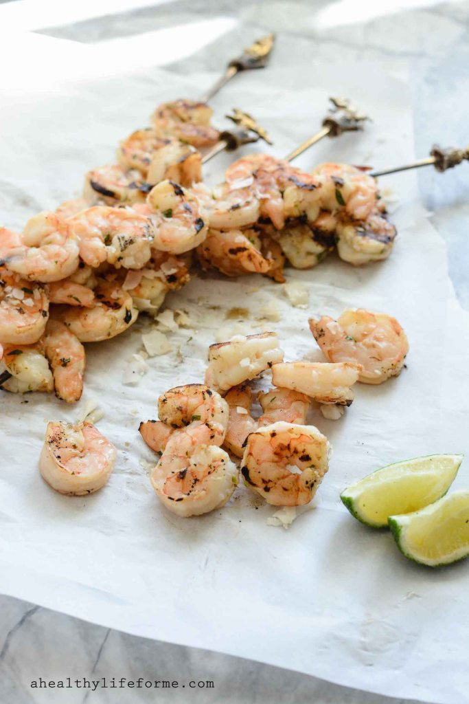 Coconut Lime Grilled Shrimp Gluten Free Paleo Dairy Free Recipe | ahealhtylifeforme.com