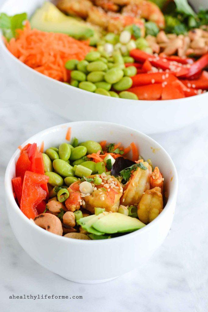 Vietnamese Shrimp Edamame Bowl Recipe | ahealthylifeforme.com