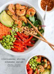 Vietnamese Shrimp Edamame Salad Recipe Gluten Free Dairy Free Healthy | ahealthylifeforme.com