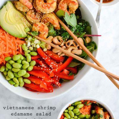 Vietnamese Shrimp Edamame Salad