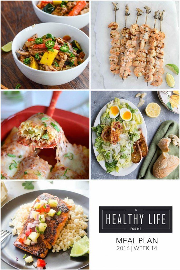 Meal Plan Week 14 | ahealthylifeforme.com