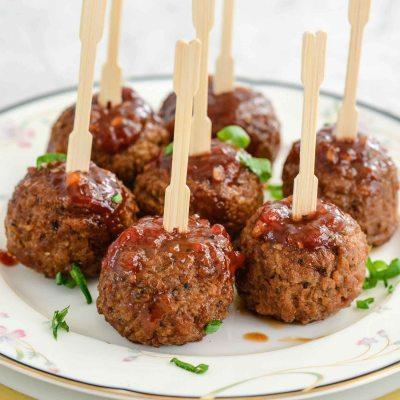 Sticky Sweet Meatballs {Dairy Free + Vegan}