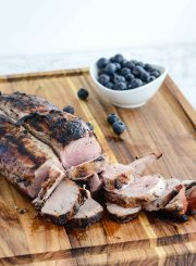 Blueberry Grilled Pork Tenderloin Healthy Gluten Free Paleo Dairy Free Dinner Recipe | ahealhtylifeforme.com
