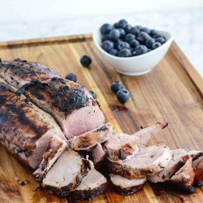 Blueberry Grilled Pork Tenderloin