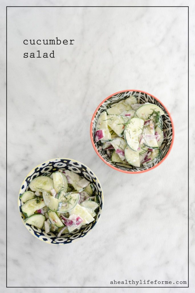 Cucumber Salad Recipe | ahealthylifeforme.com