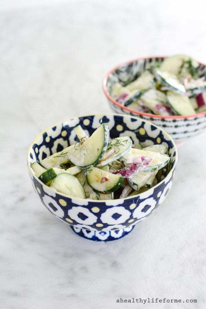 Cucumber Salad Recipe | ahealthylifeforme.com
