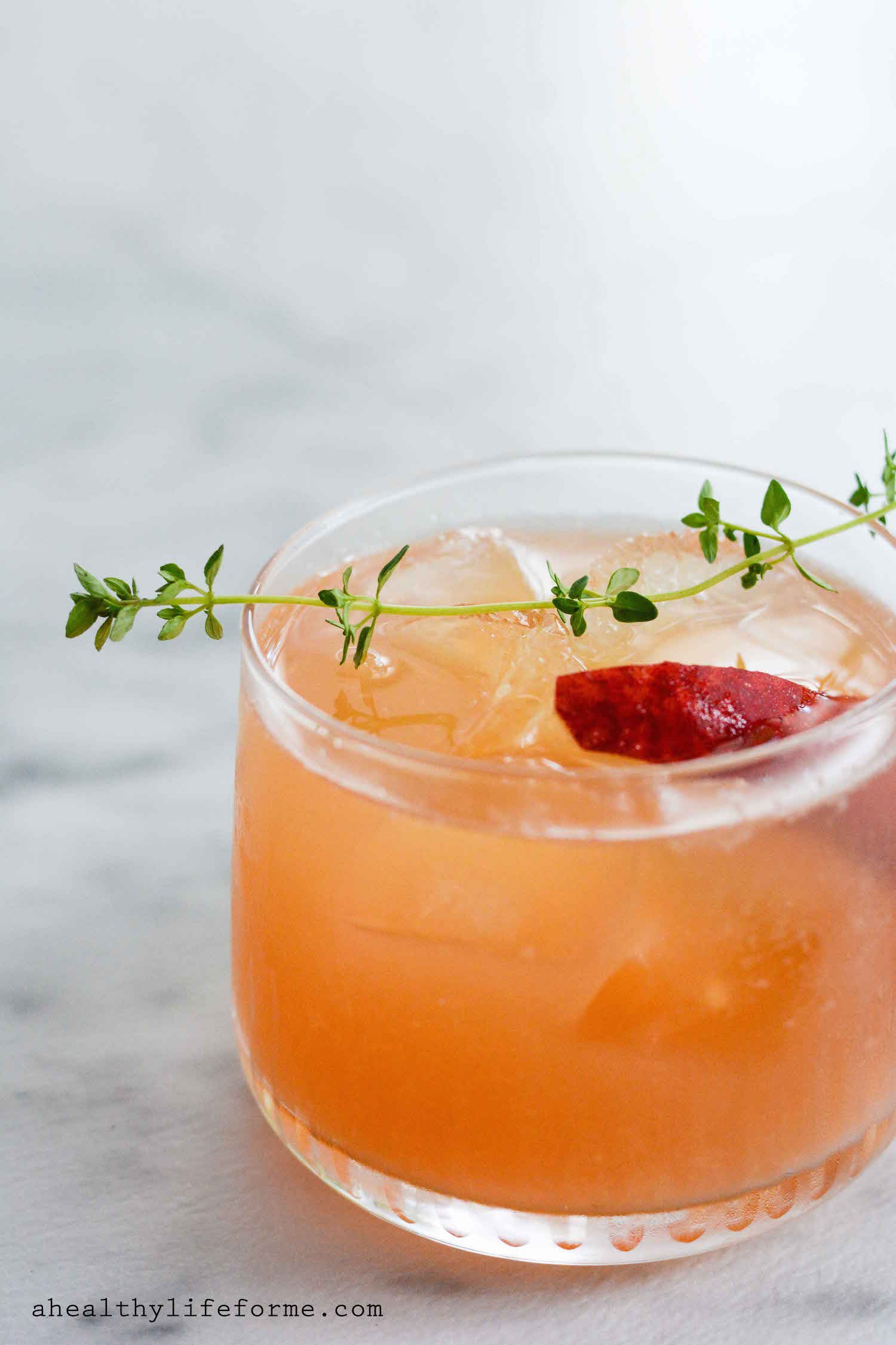 Peach Bourbon Thyme Smash A Healthy Life For Me