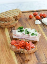 Turkey Caprese Sandwich made with Hormel Natural Choice Smoked Deli Turkey | ahealthylifeforme.com