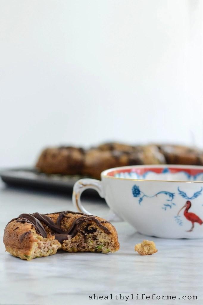 Gluten Free Zucchini Chocolate Donut Paleo Dairy Free Recipe   ahealthylifeforme.com