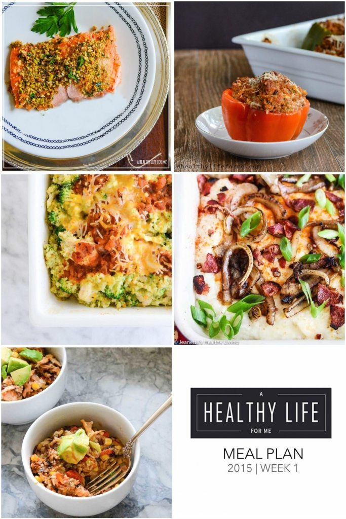 A healthy family friendly menu plan for five weeknight meals, and dessert idea | ahealthylifeforme.com