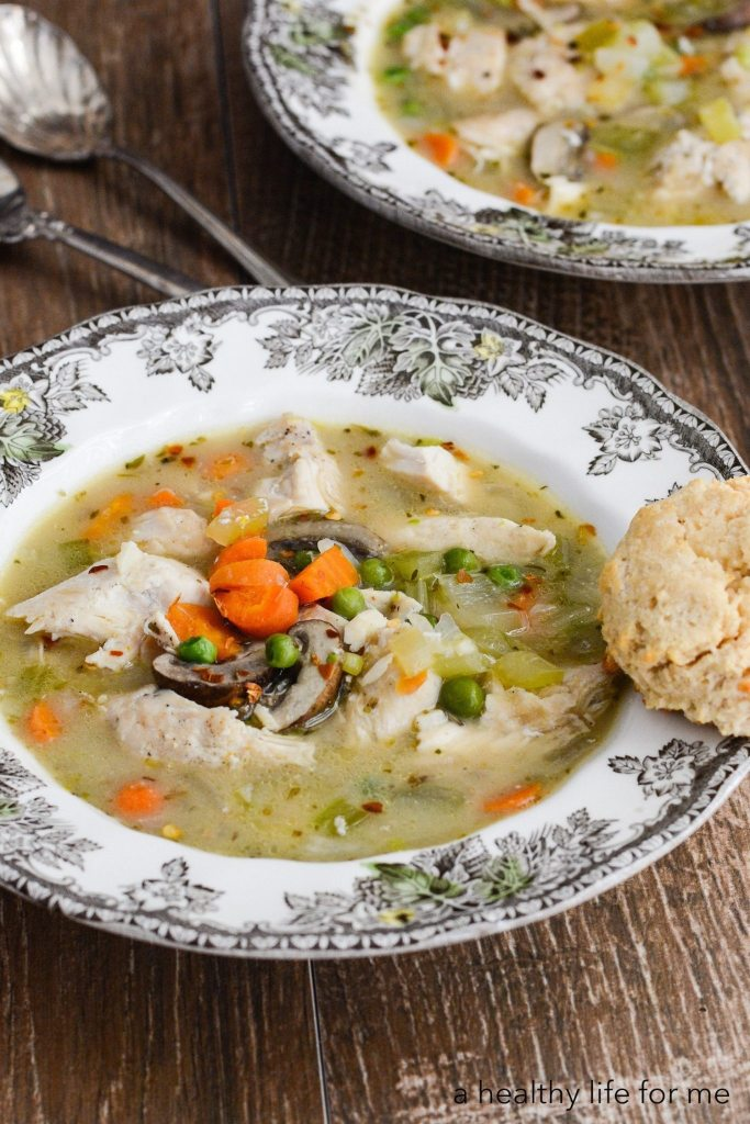Paleo Chicken and Dumplings is a hearty one pot dinner that will satisfy the whole family Gluten Free Dairy Free Whole30 recipe | ahealthylifeforme.com