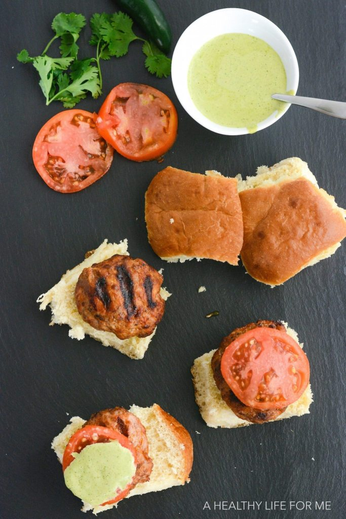Turkey Chorizo Sliders are the perfect grilled burger with a bit of spicy and tons of flavor   ahealthylifeforme.com