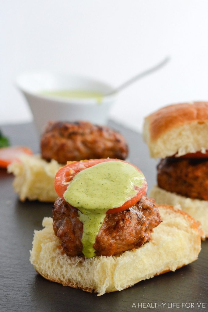 Turkey Chorizo Sliders are the perfect grilled burger with a bit of spicy and tons of flavor | ahealthylifeforme.com