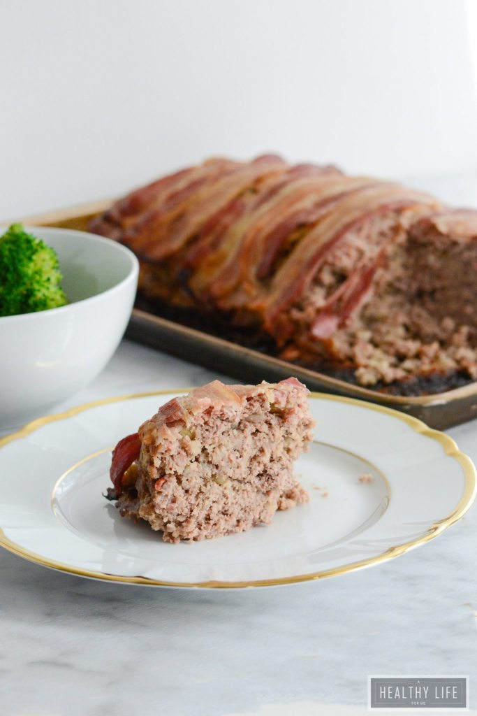 Easy Bison Bacon Meatloaf is the pefect family dinner recipe. Gluten free, loaded with vegetables, protein and tons of savory flavor. | ahealthylifeforme.com