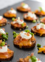 Loaded Sweet Potato Bites are a perfect mouthfull of deliciousness | ahealthylifeforme.com