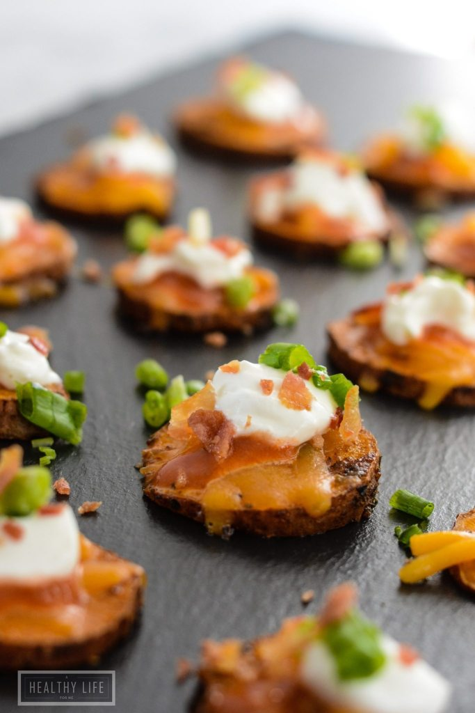 Loaded Sweet Potato Bites are a perfect mouthfull of deliciousness   ahealthylifeforme.com