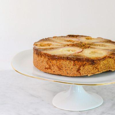 Gluten Free Pear Upside Down Cake