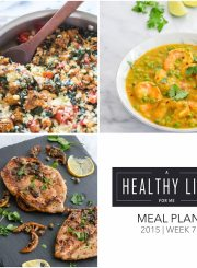 Weekly Meal Plan healthy recipes with shopping list | ahealthylifeforme.com