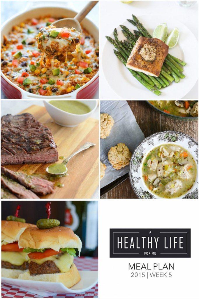 Weekly Meal Plan Week 5 healthy recipes | ahealthylifeforme.com