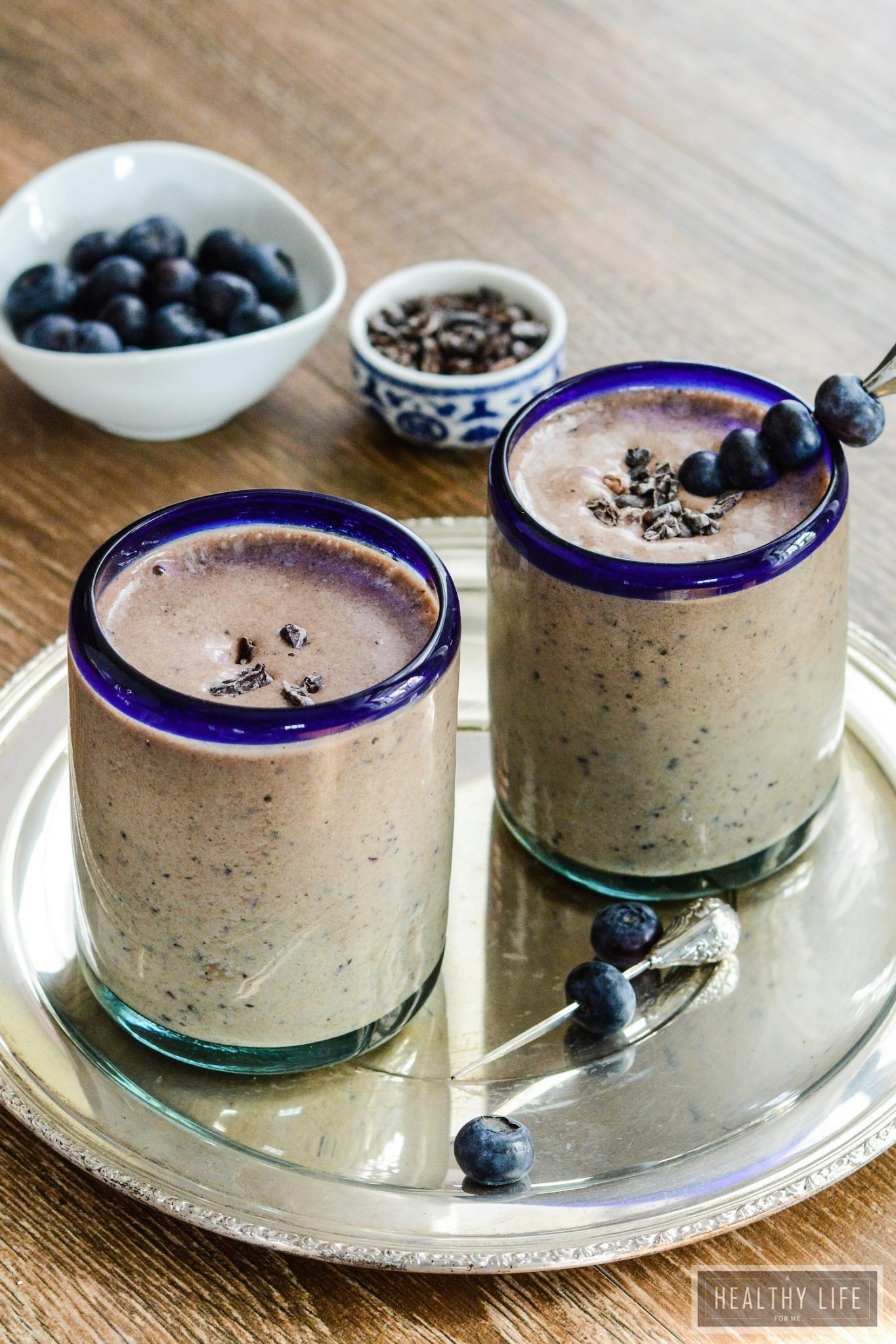 Double Chocolate Blueberry Protein Smoothie - A Healthy Life