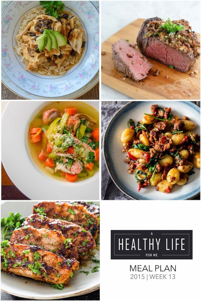 Menu Plan Week 13 with shopping list | ahealthylifeforme.com