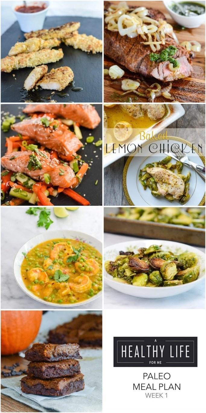 Weekly Paleo Meal Plan Week 1