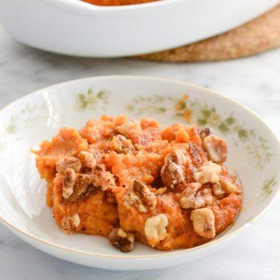 Paleo Molasses Sweet Potato Casserole