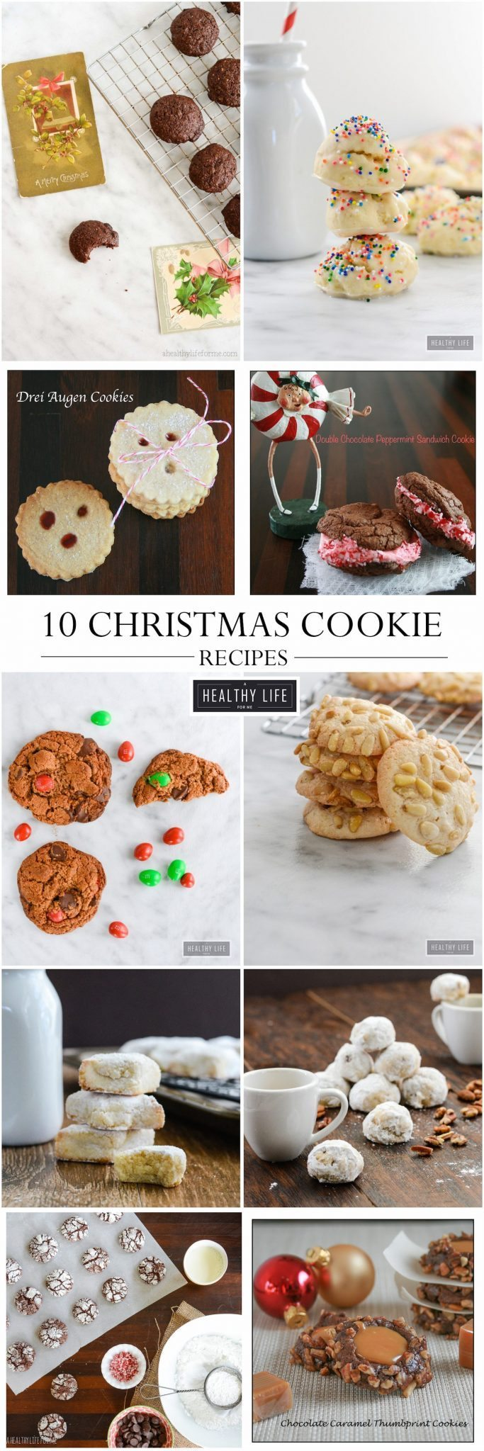 10 Christmas Cookie Recipes | ahealthylifeforme.com