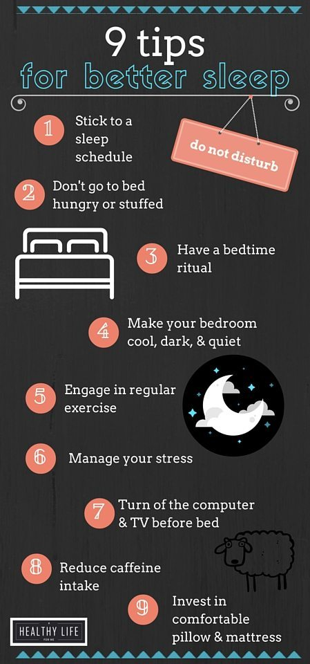 9 Tips for Better Sleep | ahealthylifeforme.com