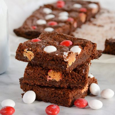 Chocolate Peppermint Brownies {gluten free + vegetarian}