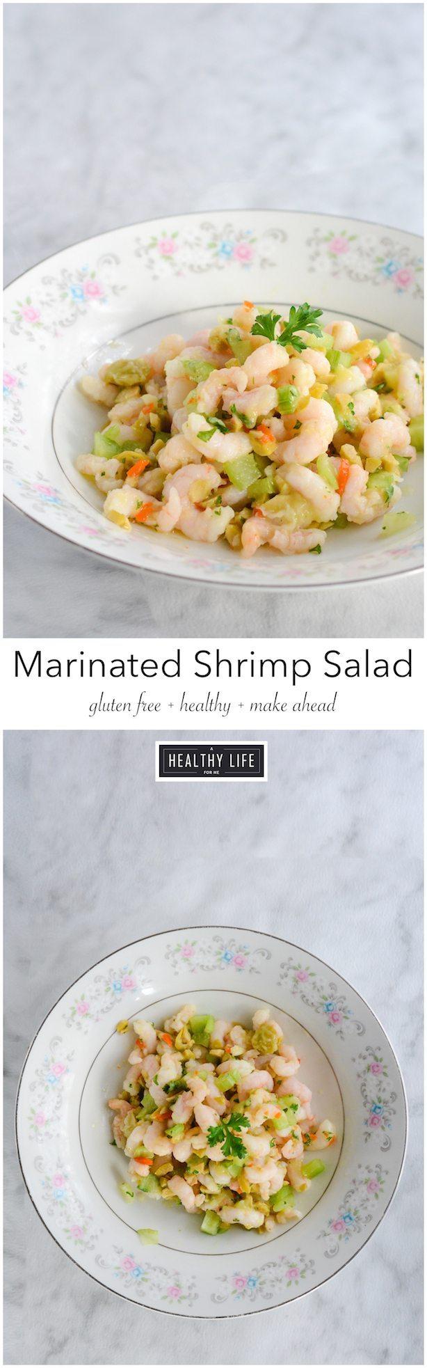 Marinated Shrimp Salad is easy make ahead healthy gluten free and paleo recipe | ahealthylifeforme.com
