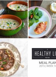 Meal Plan Week 14 with Shopping List | ahealthylifeforme.com
